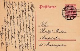 Ganzsache Aus Hamburg Nach Stockholm 1917 - Germany