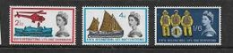 Great Britain, Elizabeth II, 1963 Lifeboat Conference, Set Of 3, MNH** - 1952-.... (Elizabeth II)