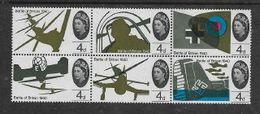 Great Britain, Elizabeth II, 1965 Battle Of Britain, 4d, Se-tenant Block Of 6, MNH** - 1952-.... (Elizabeth II)