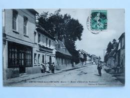 C.P.A. : 27 AMFREVILLE LA CAMPAGNE : Route D'Elbeuf Au Neubourg, Timbre En 1912 - Autres Communes