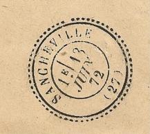 Signé POTHION, GC 4548 SANCHEVILLE Eure Et Loir Sur Enveloppe Pour CHATEAUDUN. Indice 15, 160 EUR. - Marcophilie (Lettres)