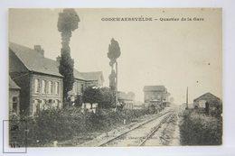 Postcard France - Godewaersvelde Quartier De La Gare - Train Station - Librairie Gubrecht - Francia