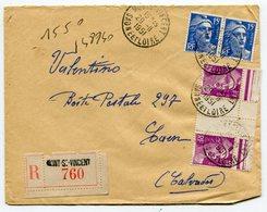 SAONE Et LOIRE  De   MONT SAINT VINCENT    Env. Recom. De   1951   Avec Dateur  A 7 - Marcophilie (Lettres)