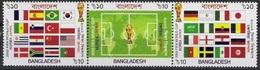 Soccer Football Bangladesh #797/9 2002 World Cup South Korea / Japan MNH ** - World Cup