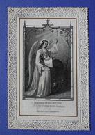 IMAGE PIEUSE  CANIVET  1887 SOUVENIR DE RETRAITE    ANGE GARDIEN   ED.SERZ  NURNBERG - Images Religieuses