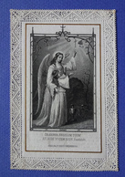 IMAGE PIEUSE  CANIVET  1887 SOUVENIR DE RETRAITE    ANGE GARDIEN   ED.SERZ  NURNBERG - Imágenes Religiosas