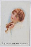 USABAL Luis  Beautiful Woman With Cigarette ERKAL 303 1 About 1920y. Polska    E872 - Usabal