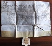 PARCHEMIN DE 1609 ! ** COLLATION DE LA CHAPELLERIE DE Ste ANNE DE MONTDRAGON EN FAVEUR D'ULISSE CAESAR CLERC D' ORANGE ? - Historische Documenten