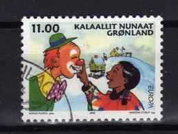 GROENLAND Greenland 2002 Europa Cirque Clown Yv 364 Obl - Groenland