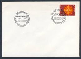 """Switzerland Schweiz Suisse 1980 Cover / Brief / Enveloppe - XXVII MOROP Kongress """"Rail-in-80"""", Interlaken - Treinen"""