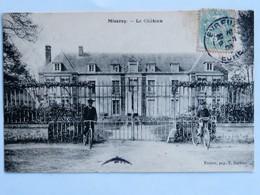C.P.A. : 27 MISEREY : Le Château, Animé, Vélos,  Timbre En 1906 - France