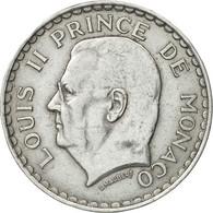 Monnaie, Monaco, Louis II, 5 Francs, 1945, Poissy, TB+, Aluminium, Gadoury:135 - Monaco