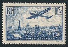 FRANCE AVION 1936 - Yv. PA 12 *   à 8% !  Cote= 25,00 EUR - Avion Survolant Paris  ..Réf.FRA28939 - Airmail
