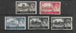 Great Britain, Elizabeth II, 1959, Castles 2/6. 5/=. 10/=. £1,W 179, Used - Used Stamps
