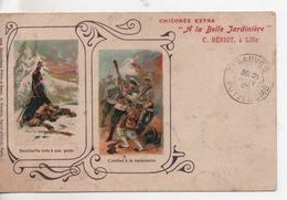 CPA.Publicité.Chicorée Extra.A La Belle Jardinière.1905.sentinelle Tuée Et Combat Baïonnette - Publicité