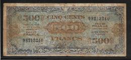 France - 500 Francs Drapeau - Fayette N°21-1 - Faux Pour Servir - 1944 Drapeau/France