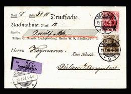 A5583) DR Nachnahme-Drucksache-Karte Berlin 19.07.07 N. Rülau / Schwarzenbeck - Briefe U. Dokumente