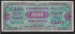 France - 50 Francs FRANCE Série 2 - Fayette N°24-2 - TB - 1944 Drapeau/France