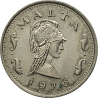 Monnaie, Malte, 2 Cents, 1976, British Royal Mint, TTB, Copper-nickel, KM:9 - Malta