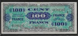 France - 100 Francs FRANCE Série 4 - Fayette N°25-4 - TTB - 1944 Drapeau/France