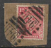 Southern Rhodesia, BONC 941 (Salisbury) Cancelling 1d Admiral On Fragment - Rhodésie Du Sud (...-1964)