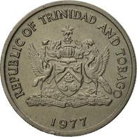 Monnaie, TRINIDAD & TOBAGO, 25 Cents, 1977, Franklin Mint, TTB, Copper-nickel - Trinité & Tobago