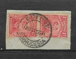 Southern Rhodesia, OUEOUE (error For QueQue) 28 MAY 1923 Cancelling 1d Admiral On Fragment - Southern Rhodesia (...-1964)