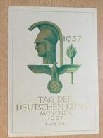 A160 Deutsches Reich 1937 Propagandakarte Tag Der Deutschen Kunst Mit Sst. München - Allemagne