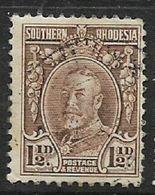 Southern Rhodesia, 1933,Field Marshal, 1 1/2d, Line Per 12, C.d.s. Used - Rhodésie Du Sud (...-1964)