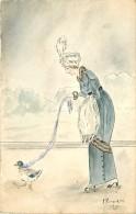 Carte Peinte A La Main , * 261 46 - Femmes
