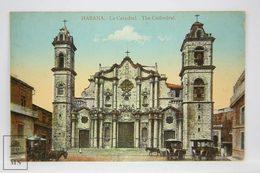 Postcard Republic Of Cuba - Habana - The Cathedral - La Catedral - Nº 2 - Horse Carriages - Cuba