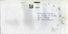 Switzerland 2016 Letter Via Macedonia Economy Post Label .application Cover - Butterflies - Switzerland