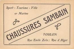 83-TOULON- CHAUSSURES SAMBAIN- RUE EMILE ZOLA , RUE D'ALGER - Toulon