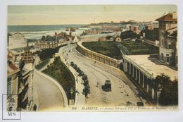 Postcard France - Biarritz - Avenue Edouard VII Tramway Bayonne - LL 166 - Biarritz