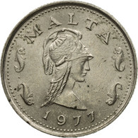 Monnaie, Malte, 2 Cents, 1977, British Royal Mint, TB+, Copper-nickel, KM:9 - Malta