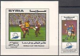 Soccer Football Syria #2013 + Bl 88 1998 World Cup France MNH ** - 1998 – France