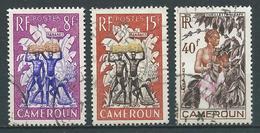 CAMEROUN 1954 . N°s 297 , 298 Et 299 . Oblitérés . - Oblitérés
