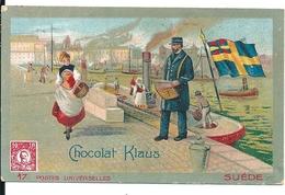 Chromos Chocolat Klaus Série Postes Universelles Suède N°17 - Chocolate