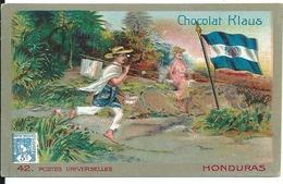 Chromos Chocolat Klaus Série Postes Universelles Honduras N°42 - Chocolate