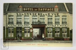 Postcard France - Cassel (nord) - Hôtel Du Sauvage - Edit. Van Eecke - Animated - Cassel