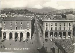 X3844 Teramo - Corso San Giorgio - Auto Cars Voitures / Viaggiata 1957 - Teramo