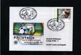 Germany 2002 Interesting Football Postmark On Registered Letter - Fussball