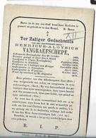 DP1/ °RENINGHELST 1828 + WYNGENE 1870 E.H. HENRI VANGRAEFSCHEPE PROF TE BRUGGE PASTOR CANEGHEM/WYNGENE.. - Religion & Esotericism