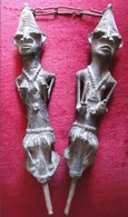 EDAN - Jumeaux Yorouba - Yoruba , Bronze, Nigéria, Afrique De L'Ouest, Achat 1975 - 1200 Grammes - 30 X 6 Cm - 4 Scans - African Art