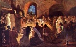 Jan Styka - L'apotre Pierre Aux Catacombes - Formato Piccolo Non Viaggiata – E 7 - Musei