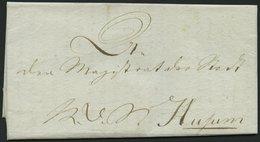 SCHLESWIG-HOLSTEIN 1808, Gedrucktes Circulaire An Den Magistrat Der Stadt Husum Des Königl. Feldcommisssariat In Kiel üb - Schleswig-Holstein