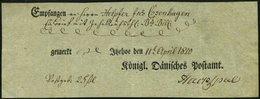 SCHLESWIG-HOLSTEIN 1810, Postschein Mit Ortsdruck Itzehoe, Pracht - Schleswig-Holstein