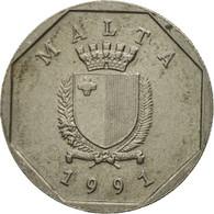 Monnaie, Malte, 5 Cents, 1991, TB+, Copper-nickel, KM:95 - Malte