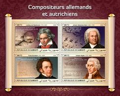 Djibouti. 2018 German-Austrian Composers. (402a) - Musique