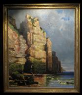 HENRI (Yves) - [Huile Sur Toile] / Pêcheurs Près De La Grotte. - Oils